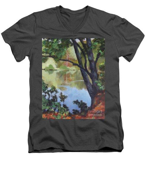 Mirror Reflection Men's V-Neck T-Shirt