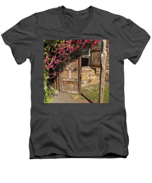 Mission San Jose 3 Men's V-Neck T-Shirt