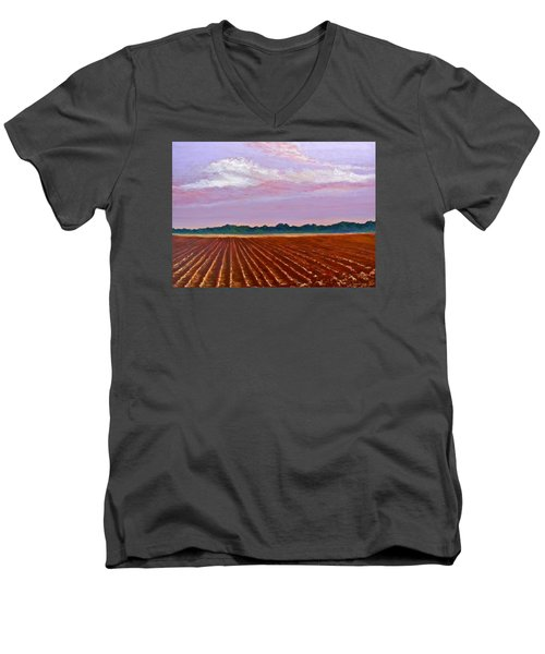 Mississippi Land And Sky Men's V-Neck T-Shirt by Jeanette Jarmon