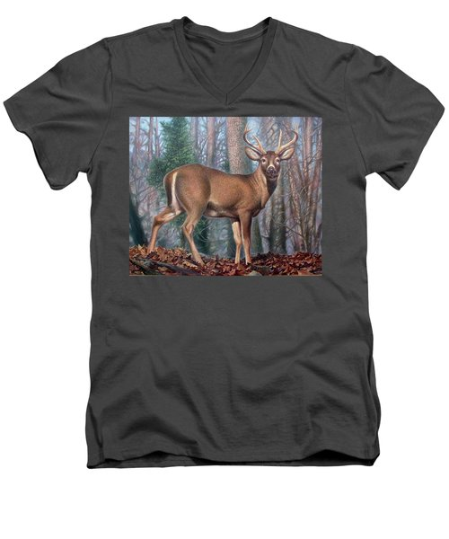 Missouri Whitetail Deer Men's V-Neck T-Shirt