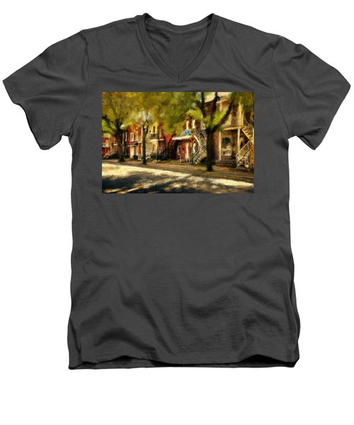 Montreal Street Men's V-Neck T-Shirt
