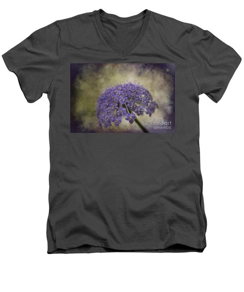 Men's V-Neck T-Shirt featuring the photograph Moody Blue by Clare Bambers