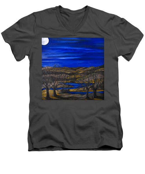 Moonlit Night Men's V-Neck T-Shirt