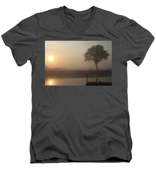 Morning Calm Men's V-Neck T-Shirt