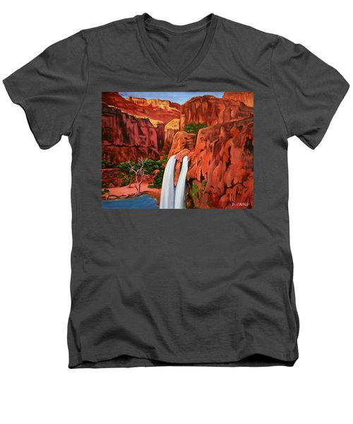 Morning In The Canyon Men's V-Neck T-Shirt