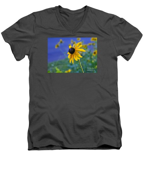 Men's V-Neck T-Shirt featuring the photograph Morning Light by Nava Thompson
