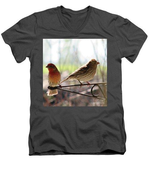 Morning Visitors 2 Men's V-Neck T-Shirt by Rory Sagner