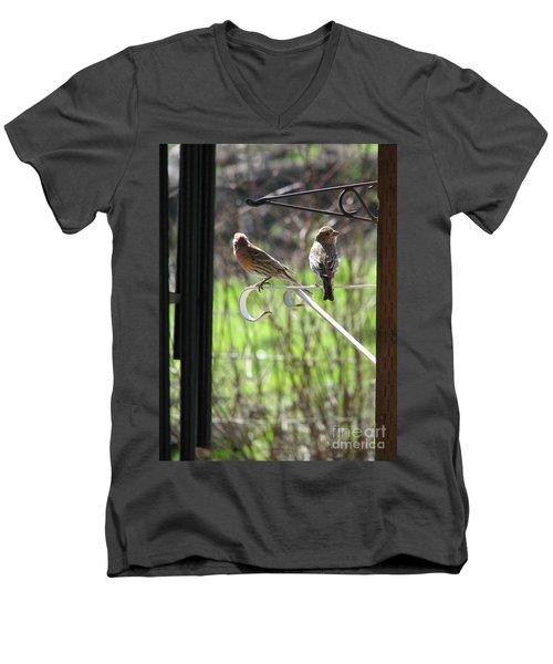 Morning Visitors Men's V-Neck T-Shirt by Rory Sagner