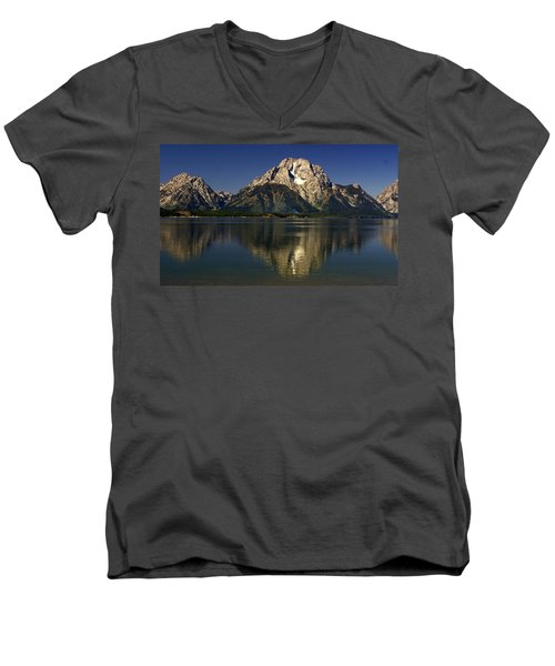 Men's V-Neck T-Shirt featuring the photograph Moujnt Moran 5 by Marty Koch
