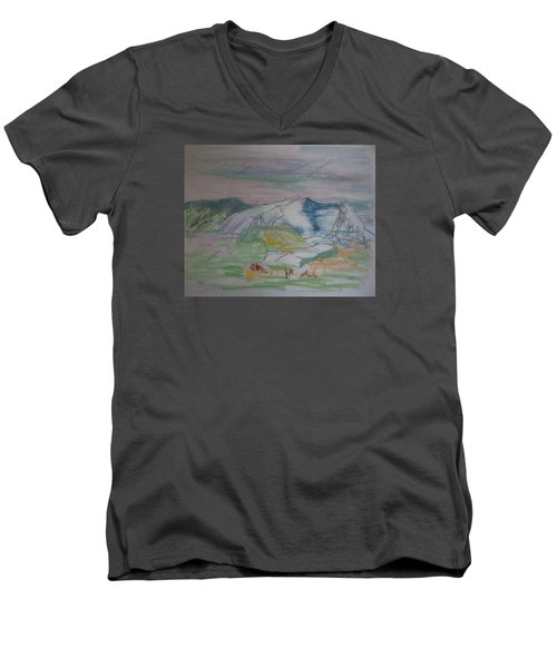 Mount Desert Back Side Men's V-Neck T-Shirt