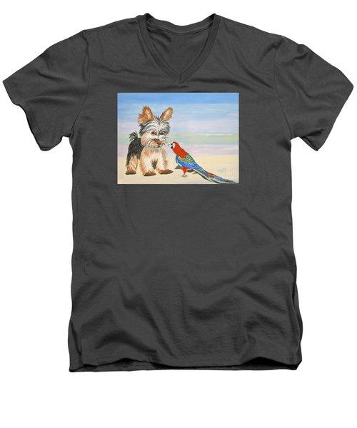 Mouthy Parrot Men's V-Neck T-Shirt