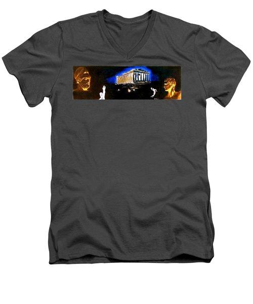 Mural - Night Men's V-Neck T-Shirt