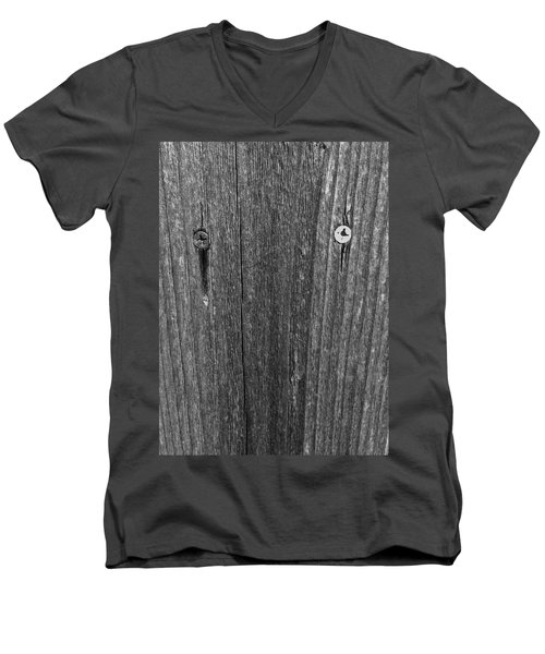 Men's V-Neck T-Shirt featuring the photograph My Fence by Bill Owen