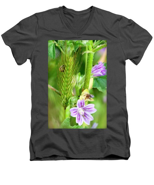 Men's V-Neck T-Shirt featuring the photograph Natural Bouquet by Pedro Cardona