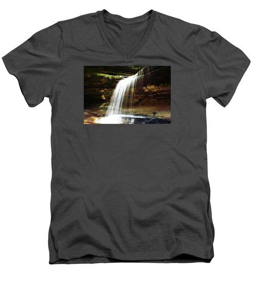 Nature In Motion Men's V-Neck T-Shirt by Milena Ilieva