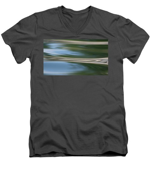 Men's V-Neck T-Shirt featuring the photograph Nature's Reflection by Cathie Douglas