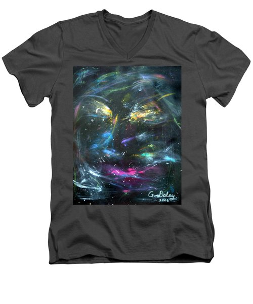 Nebula's Face Men's V-Neck T-Shirt