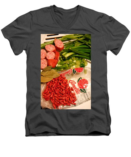 New Orleans' Red Beans And Rice Men's V-Neck T-Shirt