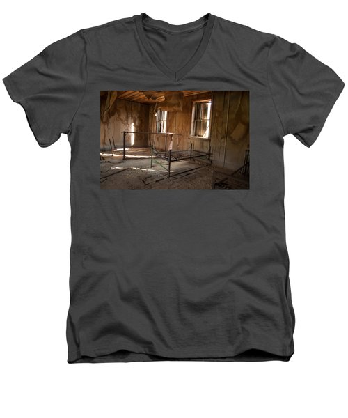 Men's V-Neck T-Shirt featuring the photograph No More Time To Sleep by Fran Riley