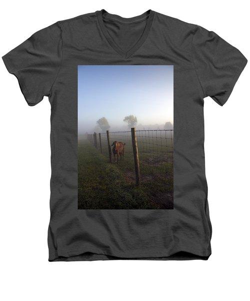 Nubian Goat Men's V-Neck T-Shirt by Lynn Palmer