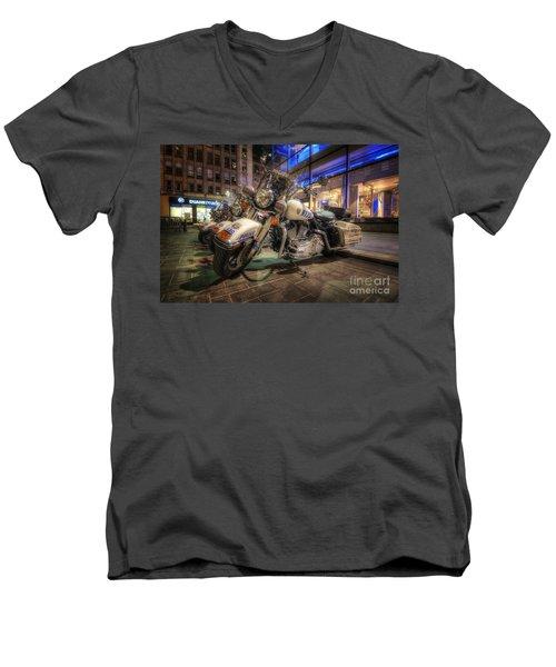 Nypd Bikes Men's V-Neck T-Shirt