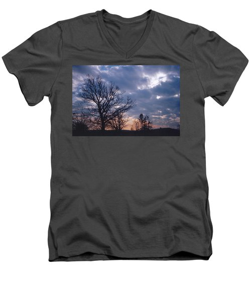 Oak In Sunset Men's V-Neck T-Shirt