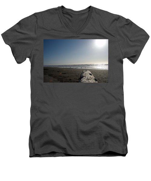 Ocean At Peace Men's V-Neck T-Shirt