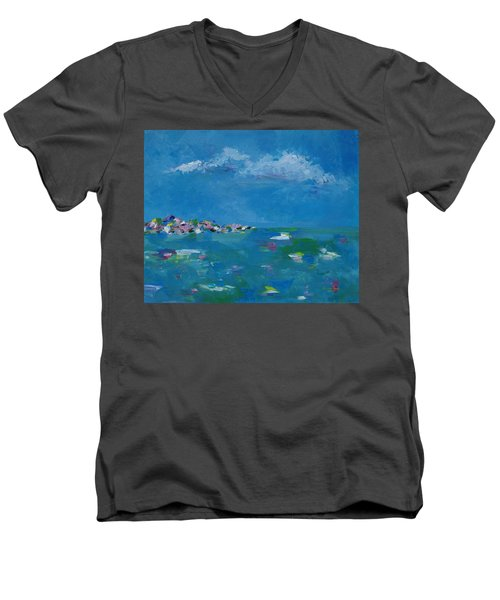Ocean Delight Men's V-Neck T-Shirt by Judith Rhue