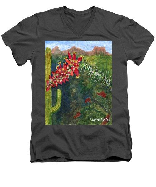 Ocotillo Spring Men's V-Neck T-Shirt
