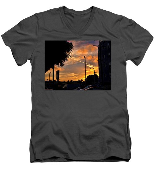 October Sunset 6 Men's V-Neck T-Shirt