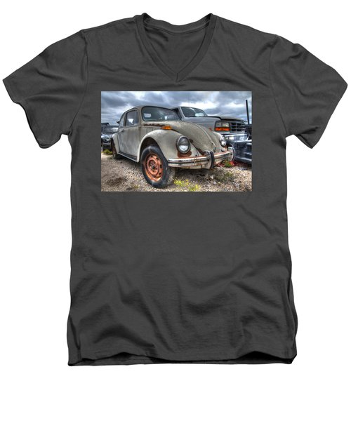 Old Vw Beetle Men's V-Neck T-Shirt by Jonathan Davison