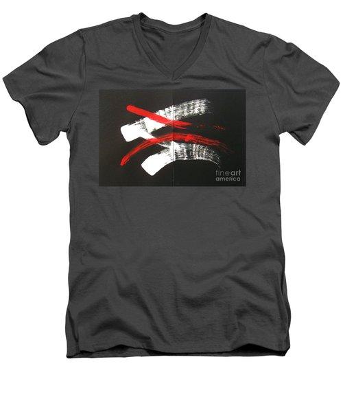Omoide Wa Nai  Anata Wa Men's V-Neck T-Shirt by Roberto Prusso