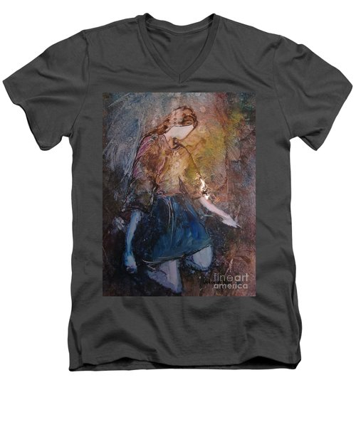 Men's V-Neck T-Shirt featuring the painting Amazing Grace by Deborah Nell