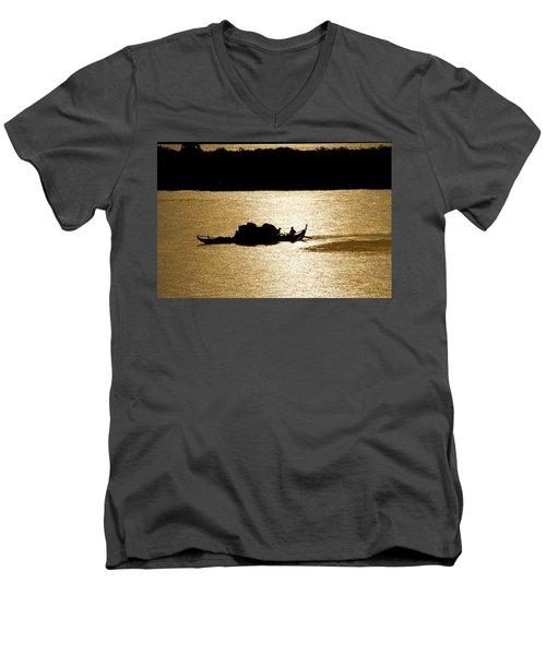 On Golden Waters Men's V-Neck T-Shirt