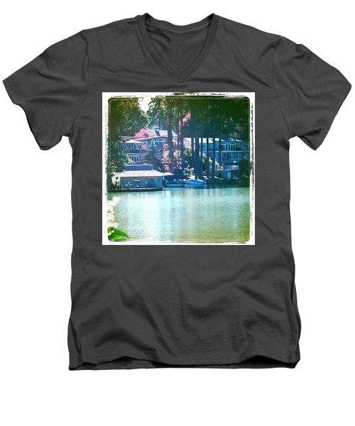 On The Lake - Lake Oswego Or Men's V-Neck T-Shirt
