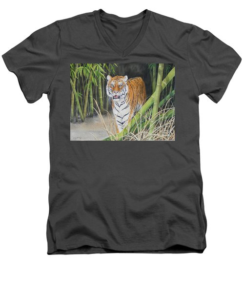 On The Prowl  Sold Prints Available Men's V-Neck T-Shirt