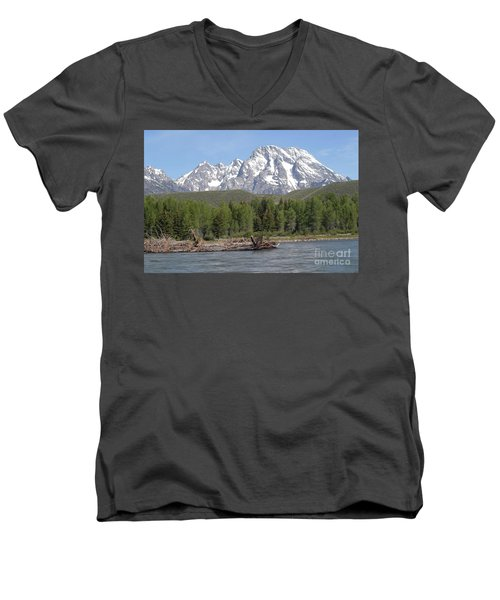 Men's V-Neck T-Shirt featuring the photograph On The Snake River by Living Color Photography Lorraine Lynch