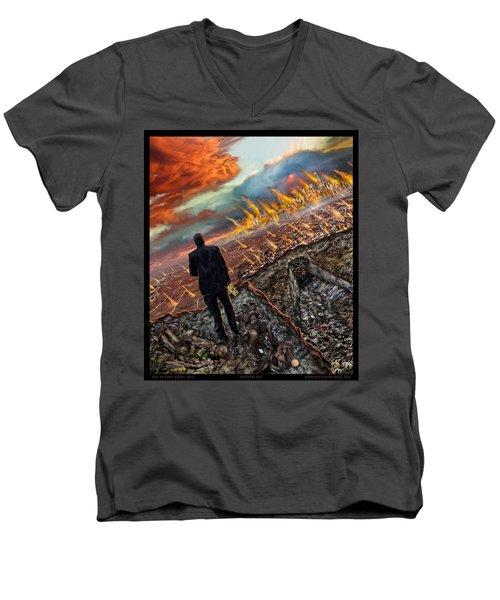 One Percent  Men's V-Neck T-Shirt by Tony Koehl