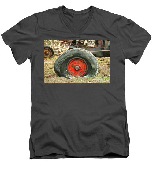 Only Flat On The Bottom Men's V-Neck T-Shirt