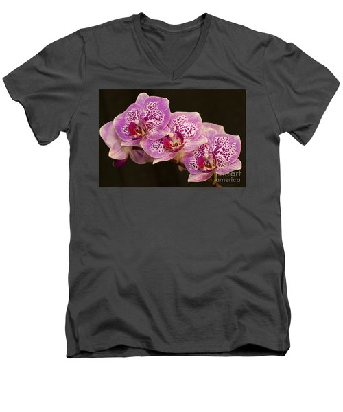 Men's V-Neck T-Shirt featuring the photograph Orchids by Eunice Gibb
