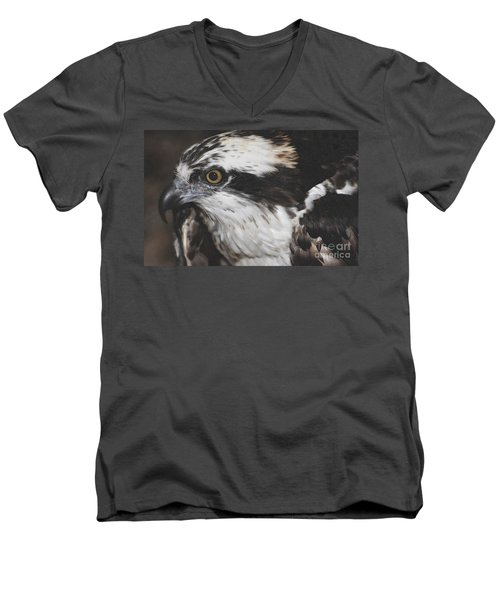Men's V-Neck T-Shirt featuring the photograph Osprey by Lydia Holly