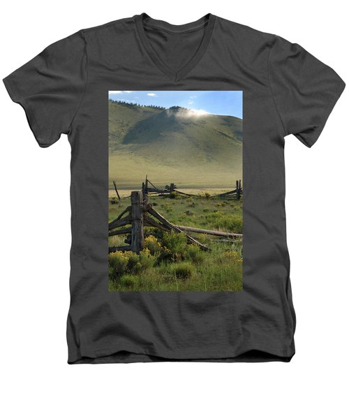 Out To Pasture Men's V-Neck T-Shirt