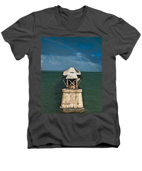 Overseas Railroad Men's V-Neck T-Shirt