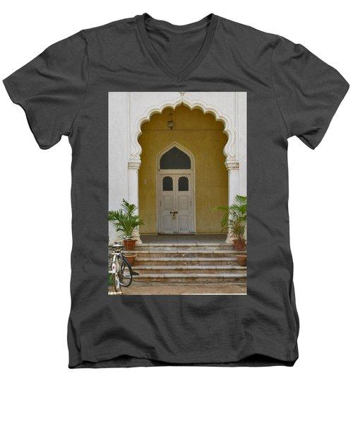 Men's V-Neck T-Shirt featuring the photograph Palace Door by David Pantuso