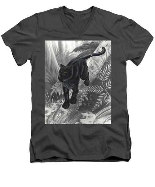 Panther By The Water Men's V-Neck T-Shirt