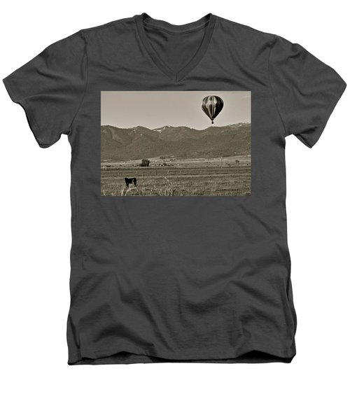 Men's V-Neck T-Shirt featuring the photograph Pastoral Surprise by Eric Tressler