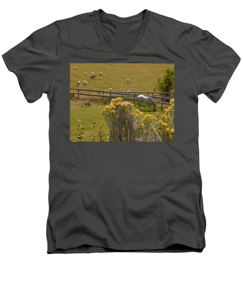 Pastures Men's V-Neck T-Shirt