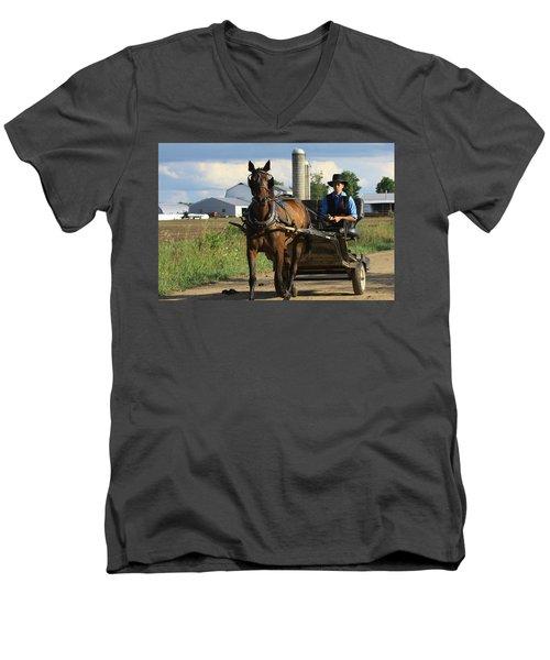 Peaceful Road Men's V-Neck T-Shirt