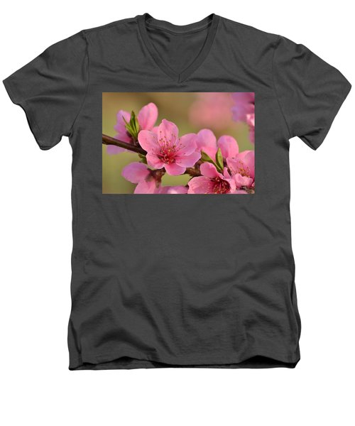 Peach Beautiful Men's V-Neck T-Shirt