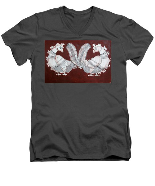 Peacocks Men's V-Neck T-Shirt